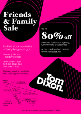 Shopping & Interiors: Friends & Family Sale at Tom Dixon