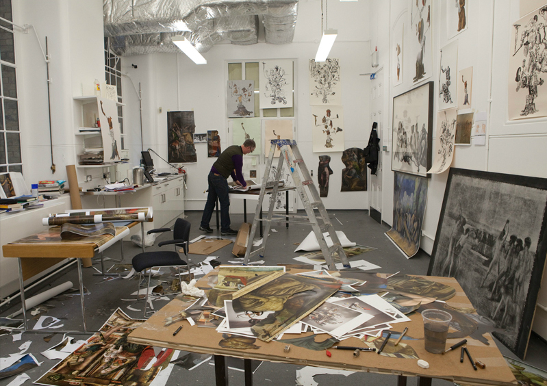 Michael Landy in his Studio at the National Gallery. Courtesy of the National Gallery
