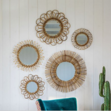 Graham & Green rattan mirrors