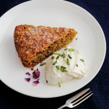 Sabrina Ghayour's Persiana & Spiced Carrot, Pistachio and Almond Cake