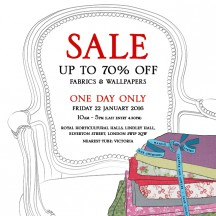 Colefax and Fowler's annual sale, plus Marie Chantal sample sale